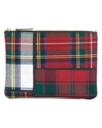 Comme des Garçons   Red - Tartan Patchwork Clutch - Unisex - Polyurethane/wool - One Size for Men   Lyst