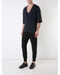 Wooyoungmi - Blue V-neck Jumper for Men - Lyst