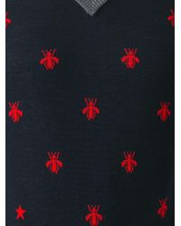 Gucci - Blue Bee And Star Embroidered Jumper for Men - Lyst