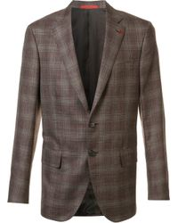 Isaia | Brown Classic Checked Blazer for Men | Lyst