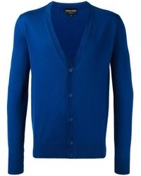 Emporio Armani | Blue Button Up Cardigan for Men | Lyst