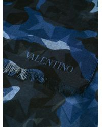 Valentino Blue Garavani Camustars Scarf for men