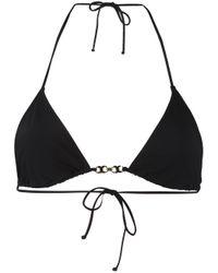 Tory Burch | Black Gold-tone Detail Bikini Top | Lyst