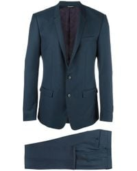 Dolce & Gabbana | Blue Gold Mirror Revers Suit for Men | Lyst