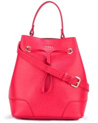 Furla | Red Drawstring Bucket Tote | Lyst
