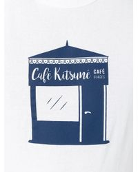 Maison Kitsuné - Red 'café Kitsuné' Print T-shirt for Men - Lyst