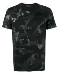 Valentino | Black Camouflage Print T-shirt for Men | Lyst
