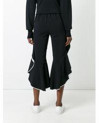Jonathan Simkhai | Black Ruffled Cropped Trousers | Lyst