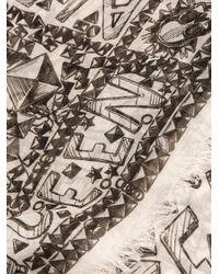 Alexander McQueen - Green Stud Print Scarf - Lyst