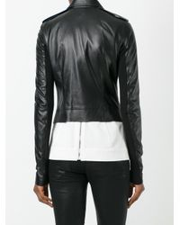 Rick Owens | Black Biker Jacket | Lyst