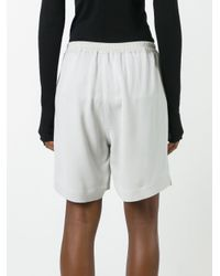 Rick Owens - Gray Loose-fit Shorts - Lyst