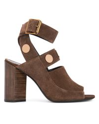 Pierre Hardy   Brown - Penny Sandals - Women - Leather/suede - 40   Lyst