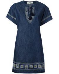 Vanessa Bruno Athé | Blue Shift Denim Dress | Lyst