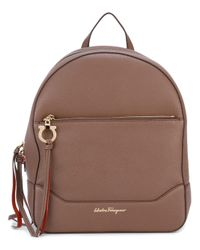 Ferragamo - Brown - Samy Backpack - Women - Calf Leather - One Size - Lyst