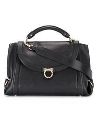 Ferragamo | Black Soft Sofia Shoulder Bag | Lyst