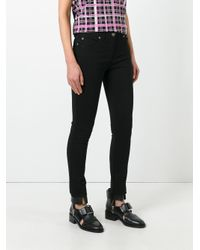 Versace - Black Tapered Skinny Jeans - Lyst