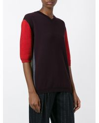 Marni - Multicolor Colour Block Short Sleeve Jumper - Lyst