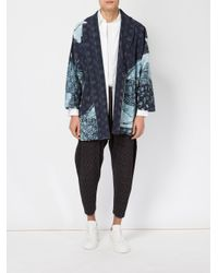 Homme Plissé Issey Miyake | Blue Abstract Print Open Jacket for Men | Lyst