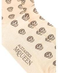 Alexander McQueen | Natural Skull Intarsia Socks for Men | Lyst