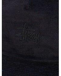 Stussy - Black Velveteen Snapback Cap for Men - Lyst