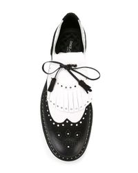 Dolce & Gabbana - Black Two-tone Brogues for Men - Lyst