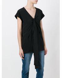 N°21 - Black Tie Knot T-shirt - Lyst
