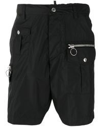DSquared² | Black Military Shorts for Men | Lyst