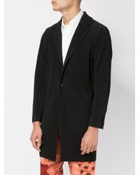 Homme Plissé Issey Miyake | Black Pleated Light-weight Jacket for Men | Lyst