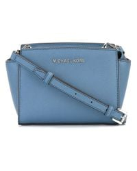MICHAEL Michael Kors | Blue Mini Selma Messenger Bag | Lyst