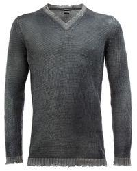 Avant Toi | Gray Distressed V-neck Jumper for Men | Lyst