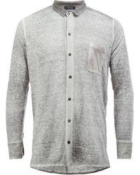 Avant Toi - Gray Linen Shirt for Men - Lyst