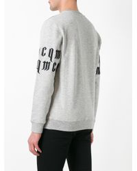 McQ | Gray Embroidered Sweatshirt for Men | Lyst