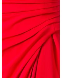 Versace - Red Crisscross Strap Evening Dress - Lyst