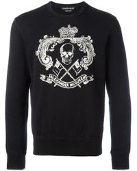 Alexander McQueen | Black Skull Print Sweatshirt for Men | Lyst
