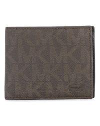 MICHAEL Michael Kors | Brown Logo Embellished Wallet for Men | Lyst