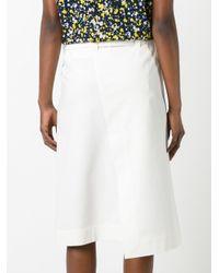 Cedric Charlier - White Front Split Skirt - Lyst