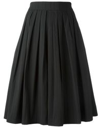 Blumarine - Black Pleated A-line Skirt - Lyst