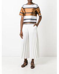 Blugirl Blumarine - Brown Metallic Boxy T-shirt - Lyst