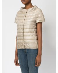 Herno - Natural Cap Sleeve Padded Jacket - Lyst