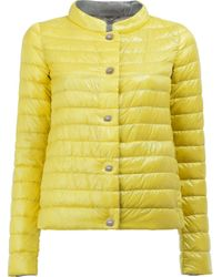 Herno | Multicolor - High Neck Down Jacket - Women - Feather Down/polyamide - 44 | Lyst