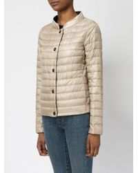 Herno | Natural High Neck Down Jacket | Lyst