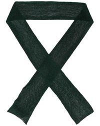 Missoni   Green Metallic Knitted Scarf   Lyst