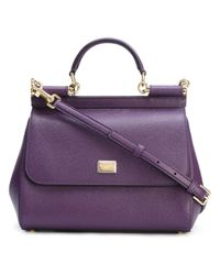 Dolce & Gabbana | Purple Medium Sicily Tote | Lyst