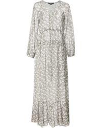 Derek Lam | Gray Lace Up Maxi Dress | Lyst