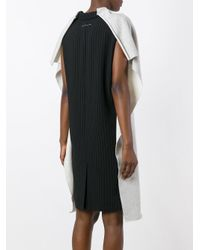 MM6 by Maison Martin Margiela - Black Cape Sleeves Dress - Lyst