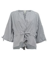 Maison Rabih Kayrouz | Black - Striped Wide Sleeve Blouse - Women - Cotton - 36 | Lyst