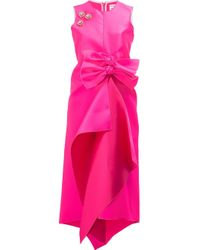 Maison Rabih Kayrouz | Pink Embellished Front Bow Dress | Lyst
