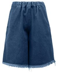 Marques'Almeida | Blue Raw Hem Denim Shorts | Lyst
