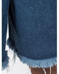 Marques'Almeida - Blue Raw Hem Denim Shorts - Lyst