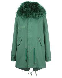 Mr & Mrs Italy - Green Mid Parka Coat - Lyst